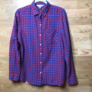Old Navy The Classic Shirt Blue/Red Check Buttonup
